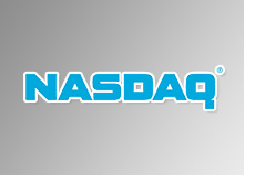 nasdaq logo - red background  - stock exchange