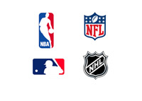 NBA, NFL, MLB and NHL Logos