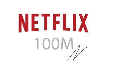 Netflix is approaching 100 million subscribers mark.  Illustration / concept.