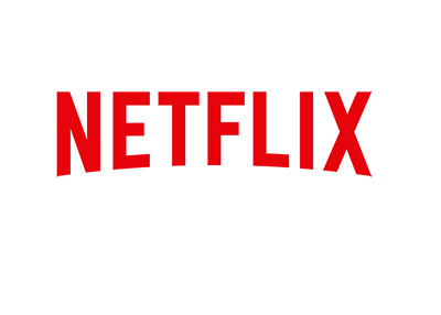 Netflix company logo - On white background