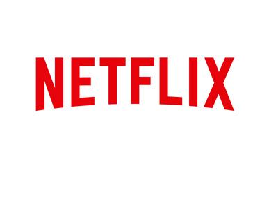 Netflix company logo - On white background