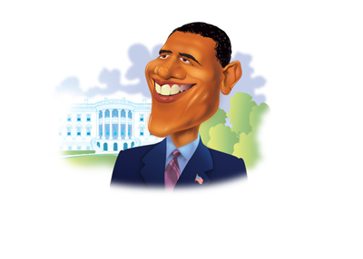 Barack Obama Illustration - Looking back at the White House days.