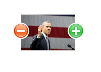 U.S. President Barack Obama - Polarized - Photo Illustration