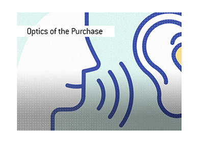 The optics of the purchase (stink).