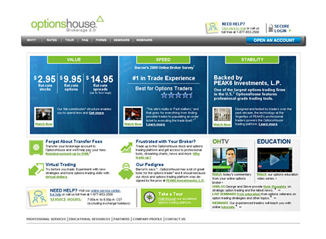 website screenshot optionshouse.com