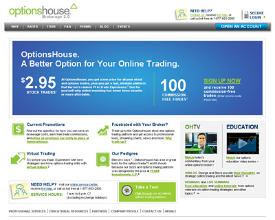 -- options house website screenshot - promo code --