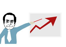 -- Illustration of John Paulson and his bullish market prediction --