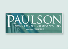 paulson and company logo on green background