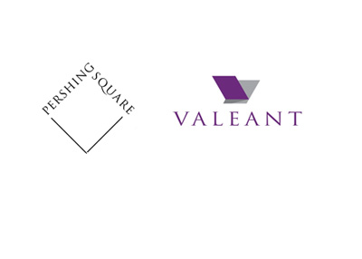 Pershing Square Capital logo next to Valeant - Corporate logos