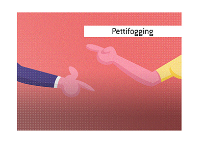 The meaning of the term Pettifogging is explained in this article.  When was the word first used  in the justice system?