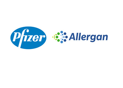 The proposed merger between Pfizer and Allegran - Company logos