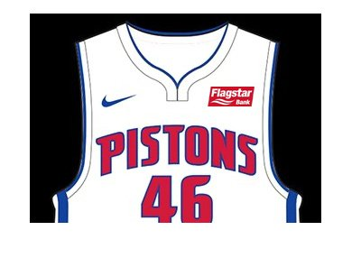 Detroit Pistons and Flagstar Bank - Jersey advertising deal - 2017/18 season.