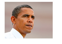 -- president barack obama  - worried --