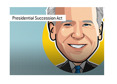 The presidential succession act - Joe Biden illustration.