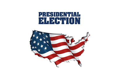 United States of America - Presidential Elections - Map and lettering