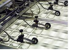 -- printing press - u.s. dollars --
