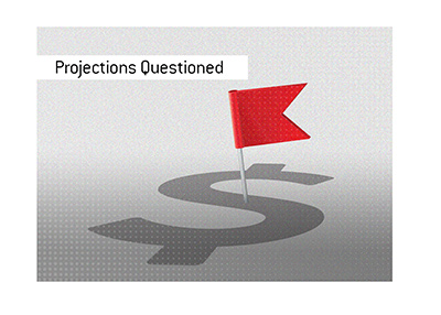 Company valuation and income projections are being questioned.  Red flag.