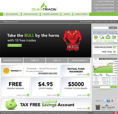-- questrade screenshot - sign up for an account - top canadian brokerage --