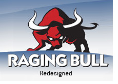 stock market news website ragingbull.com - redesigned - raging bull - logo