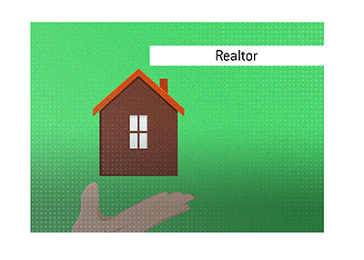The meaning of the term Realtor is explained in this article.  House for sale - Illustration.