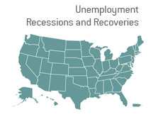 -- map of united states - recessions and recoveries data --