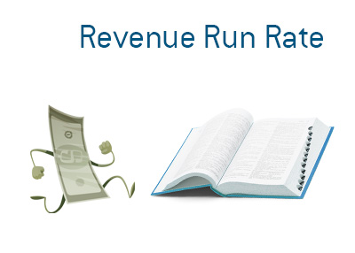 The illustration to accompany the description of the term Revenue Run Growth