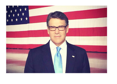 Rick Perry - Elections photo - In front of the flag of United States of America