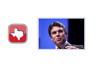 Rick Perry next to the mini Texas.gov logo