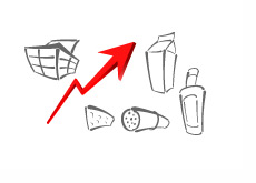 Food Basket - Rising Prices - Illustration