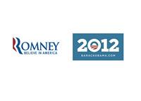 Romney vs. Obama logos