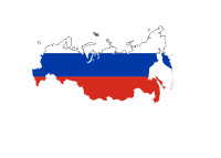 Russia - Map / Flag