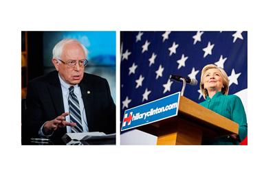 Bernie Sanders vs. Hillary Clinton - Photo Collage