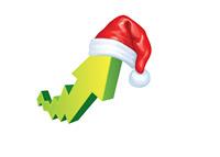 Santa Rally - Stock Market - Illustration
