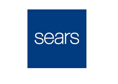 Sears company logo - Blue colour - Year 2016.