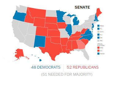 Washington Post Chart - United States Senate Predictions - November 2014