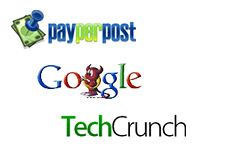 logo - google devil - payperpost - techcrunch