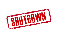 Shutdown Stamp - Illustration
