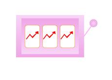 Slot machine showing rising unemployment in Las Vegas - Illustration
