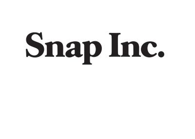 Snap Inc. logo - Black and white - Year is 2017.
