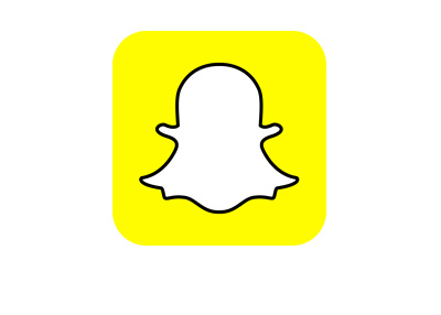 The 2016 version of the Snapchat logo in yellow colour