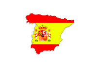 Map and Flag - Spain - Illustration
