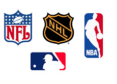 nfl nhl nba and mlb sports logos