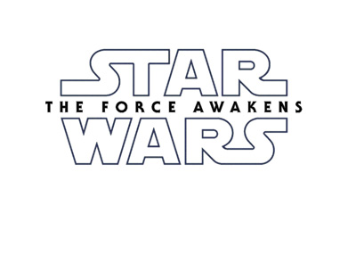 Star Wars - The Force Awakens logo - Black on white