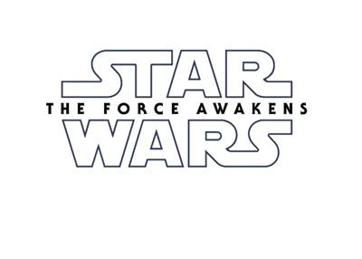 Star Wars - The Force Awakens logo - Black on white