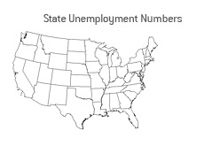 -- U.S. Unemployment numbers by state - April 1983 - 2009 --