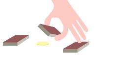 -- Street coin trick - Illustration --