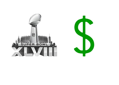 Superbowl 2014 in Dollars - Illustration