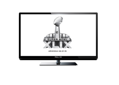 Superbowl XLIX - Year 2015 - Television (TV) ratings - Illustration / Concept