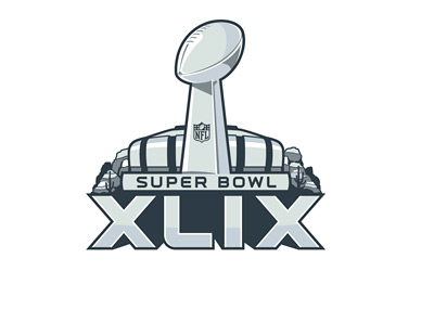 Superbowl XLIX Logo - University of Phoenix Stadium - February 2015 - Sign