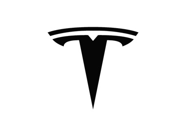 Tesla logo - Black on white - Simplified version